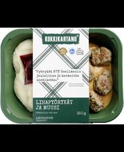 Kokkikartano 350g Lihapyörykät ja muusi valmisruoka