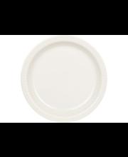 Kultakeramiikka Aito matala lautanen 18 cm, valkoinen