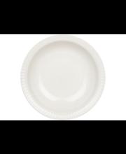 Kultakeramiikka Aito syvä lautanen 20 cm, valkoinen