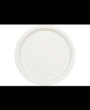 Kultakeramiikka Aito matala lautanen 25 cm, valkoinen