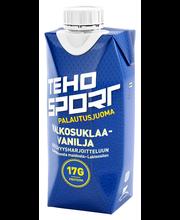TEHO Sport palautusjuoma kestävyysharjoitteluun valkosuklaa-vanilja 0,33L