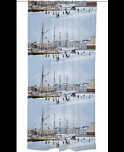 Vallila Pohjoisranta verho 140x250cm sininen