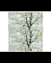 Suihkuverho omenapuu