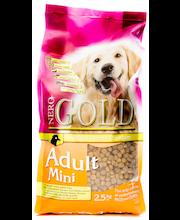 Nero Gold Adult Mini 2,5kg, lemmikkieläinten ruoka pienikokoisille aikuisille koirille