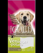 Nero Gold Adult peura & peruna 2,5 kg, lemmikkieläinten ruoka aikuisille koirille