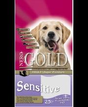 Nero Gold Sensitive 2,5 kg, kalkkuna-riisi lemmikkieläinten ruoka aikuislle/herkille koirille