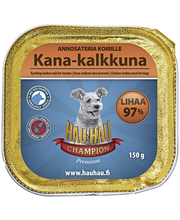 Hau-Hau Champion Kana-kalkkuna annosateria 150 g