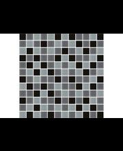 ABL Lasimosaiikki Crystal 4 25*25mm tummanharmaa mix