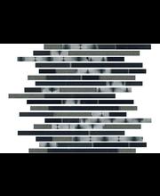 ABL Lasimosaiikki Inox strip + Black Stone
