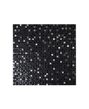 ABL Lasi-kivi-metalli mosaiikki 1,5x1,5 cm musta