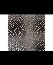 ABL Lasi-kivi-metalli mosaiikki 1,5x1,5 cm ruskea