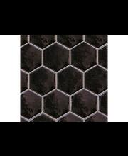 ABL Lattialaatta Hexatile 17,5x20cm negro, musta kiiltävä