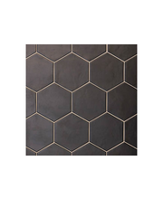 ABL Lattialaatta  Hexatile 17,5x20cm negro, musta matta