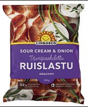 Linkosuo Ruislastu Sour Cream& Onion 200g
