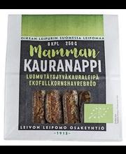 MAMMAN Kauranappi luomu 6 kpl, 250g 100% täysjyväkaura, halkaistu luomu kauraleipä