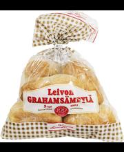 Leivon Graham sämpylä 300g, 5 kpl