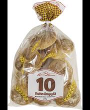 Leivon 10 Ruissämpylä 10 kpl 470g, rukiinen vehnäsämpylä