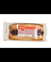 Leivo Mansikkatäytepitko 410g, mansikkatäytteinen pullapitko