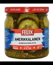 Felix Amerikkalainen 410/215g kurkkuviipaleita makeassa mausteliemessä