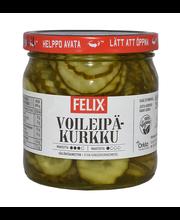 Felix 400/210g ohut voileipäkurkku koruviipaloituja kurkkuja mausteliemessä