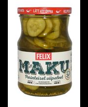 Felix Maku 560/300g viipaloituja kurkkuja mausteliemessä