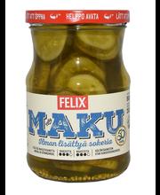 Felix Maku 560/300g viipaloituja kurkkuja mausteliemessä ilman lisättyä sokeria