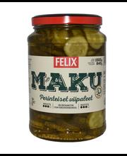 Felix Maku 1500/840g viipaloituja kurkkuja mausteliemessä