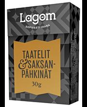 Lagom 30g kuivattuja taatelin ja saksanpähkinän paloja