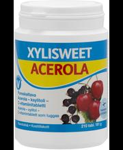 Xylisweet Acerola 210 tabl pureskeltava acerola-ksylitoli-C-vitamiinitabletti