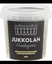 Jukkolan Mustajussi-mustapippurituorejuusto 100 g