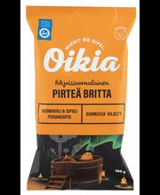 Oikia Pirteä Britta kermaviili-sipuli perunalastut 100g