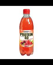 Leader Protein 500ml Mansikan ja vadelman makuinen proteiinijuoma