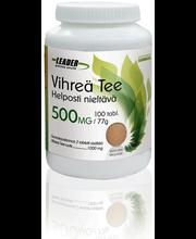 Leader Terveystuotteet 77g/100 tablettia Vahva vihreä tee ravintolisä
