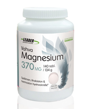 Leader Terveystuotteet 140tablettia /134g vahva magnesium 370mg ravintolisä