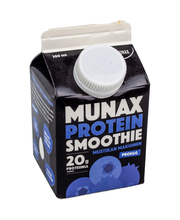 Munax Protein smoothie 300ml Mustikan makuinen välipalajuoma