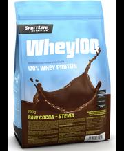 SportLife Nutrition Whey100 700g raakakaakao heraproteiinijauhe