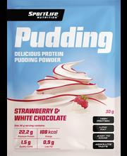 SportLife Nutrition Pudding 30g valkosuklaa-mansikka proteiinivanukas