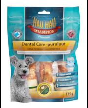 Hau-Hau Champion 175g Dental care -puruluut Piparminttu-lehtivihreä 15 cm, 3 kpl