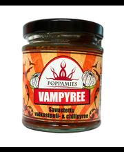 Poppamies 185g Vampyree -savustettu valkosipuli & chilipyree