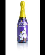 Moomin mustikka-vadelma 75cl plo kupliva lasten juhlajuoma