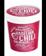 136ml Vegaaninen Vadelma-Chilijäätelö Salmiakkikastikkeelle