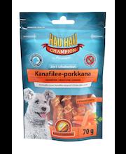 Hau-Hau Champion 2in1 Lihaherkut Kanafilee-porkkana70 g