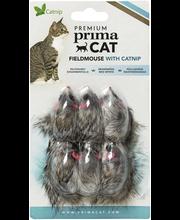 Premium PrimaCat Peltohiiret kissanlelu 6 kpl mintulla