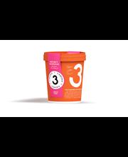 3 Kaverin 500ml jäätelö vadelma & valkosuklaa