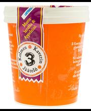 3 Kaverin Jäätelö 500mll Mustaherukka & Appelsiini laktoositon