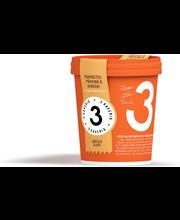 3 Kaverin jäätelö 500ml Paahdettu pähkinä & kinuski
