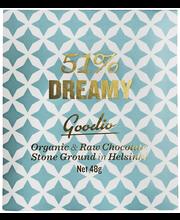 Goodio Dreamy 51 % Luomu raakasuklaa 48 g