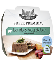 Hau-Hau Champion Super premium Lammas-vihannes pate riisillä 100 g
