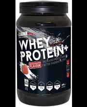 Leader Sports Nutrition Whey Protein Plus 600g mansikanmakuinen heraproteiinijauhe urheiluravinne