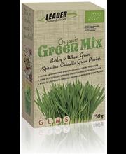 Leader Natural Foods 150g Luomu green mix ohran- ja vehnänoras-spirulina-klorella viherjauhe